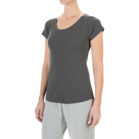 Yummie by Heather Thomson Baby Rib T-Shirt - Pima Cotton Blend, Short Sleeve (For Women)