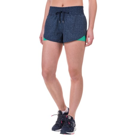 Mondetta Denim Combo Running Shorts (For Women)