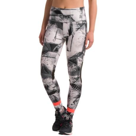 Mondetta Asymmetric Print Leggings (For Women)