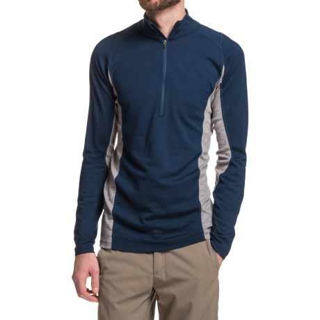 Ibex Indie Shirt - Merino Wool, Zip Neck, Long Sleeve (For Men)