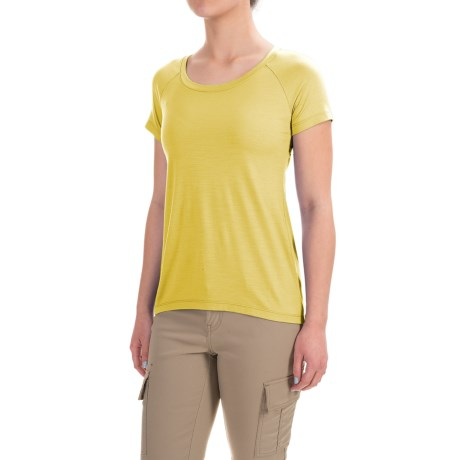 Ibex Aurora T-Shirt - Merino Wool, Short Sleeve (For Women)