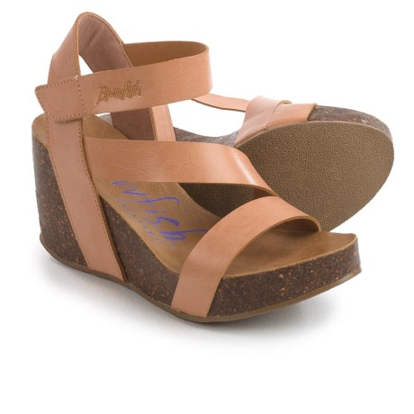 Blowfish Hapuku Wedge Sandals - Vegan Leather (For Women)