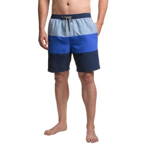 Boston Traders Color-Block Volley Swim Trunks - UPF 50+ (For Men)