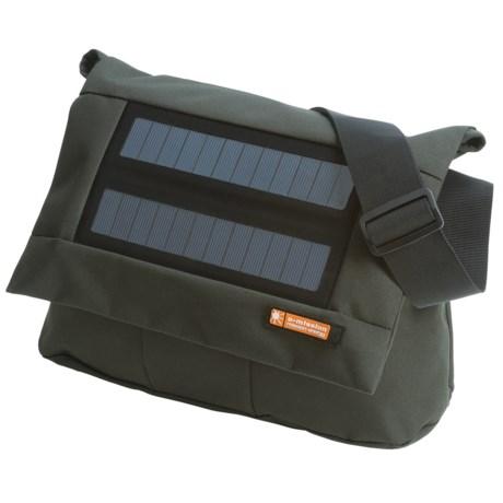 E-Mission e-mission Shoulder Messenger Bag with Solar Power Charger - Medium