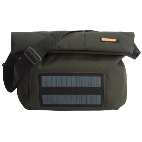 E-Mission e-mission Shoulder Messenger Bag with Solar Power Charger - Large