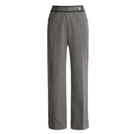 Think Tank Silver Mine Piped Pants - Cuffed (For Women)