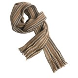 Johnstons of Elgin Lambswool Scarf - Warp Knit (For Men and Women)
