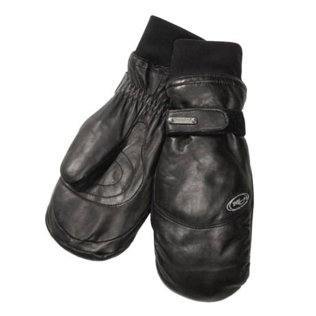 Grandoe Up Down Leather Mittens - Waterproof (For Men)