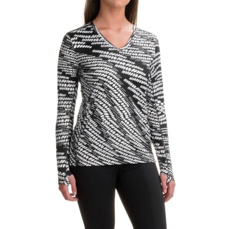 Saucony Velocity V-Neck Running Shirt - Long Sleeve (For Women)
