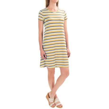 Antibes Blanc Striped T-Shirt Dress - Short Sleeve (For Women)