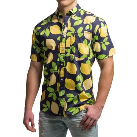 Southern Proper Lime Social Shirt - Short Sleeve (For Men)