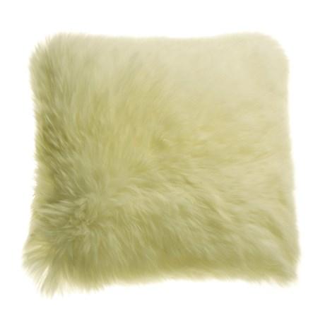 """Auskin Longwool Sheepskin Pillow - 18"""" Square"""