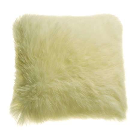 "Auskin Longwool Sheepskin Pillow - 18"" Square"