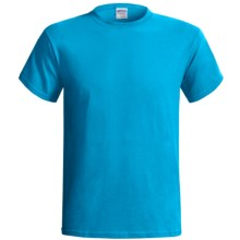 Gildan Cotton T-Shirt - 6.1 oz., Short Sleeve (For Men and Women) in Turquoise - 2nds