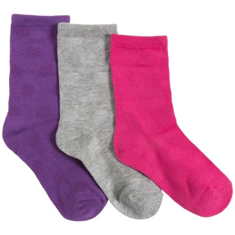 Keds Mesh Dot Socks - 3-Pack, Crew (For Little Girls)