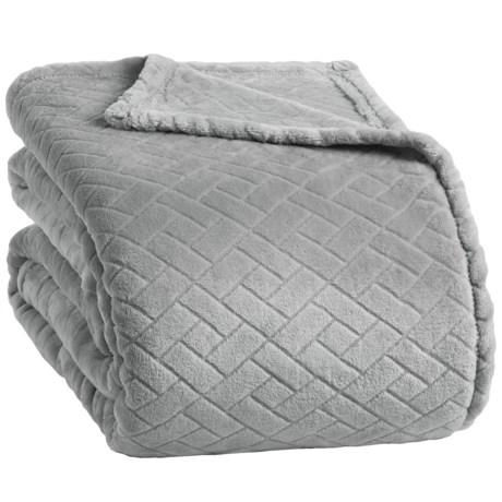 Berkshire Blanket Basket-Weave VelvetLoft® Blanket - Twin