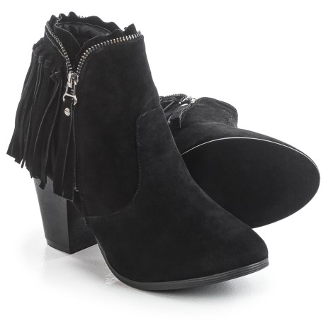 Yoki Betty Fringed Ankle Boots - Vegan Leather (For Women)