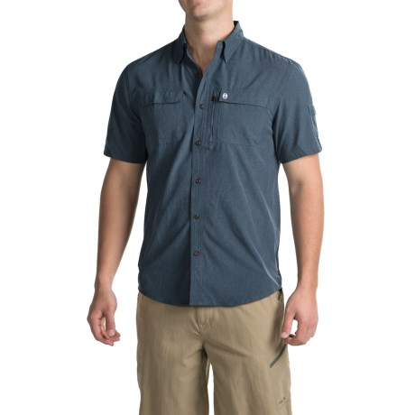 Coleman Stretch Chambray Fishing Shirt - UPF 30, Short Sleeve (For Men)