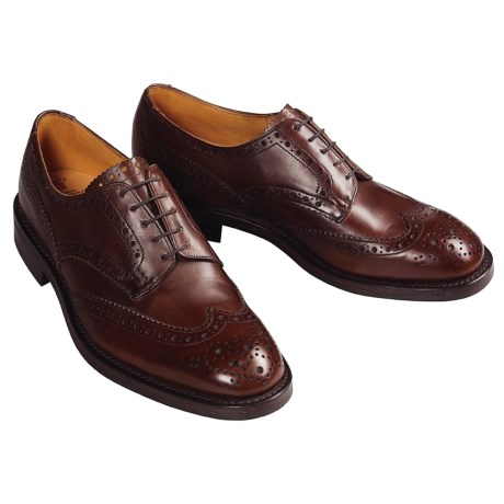 Tricker's Handmade Wingtip Derby Shoes - Brogue Welted  (For Men)