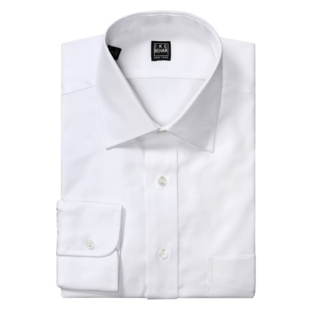 Ike Behar Black Label Cotton Twill Dress Shirt - Standard Fit, Long Sleeve (For Men)