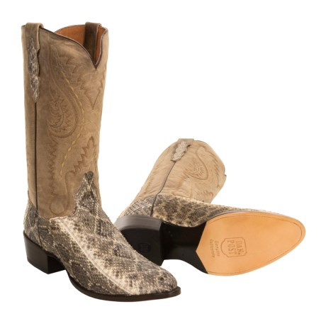 Dan Post Exotic Cowboy Boots - Rattlesnake Skin (For Men)