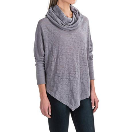 allen allen Angled Hem Cowl Neck Shirt - Long Sleeve (For Women)