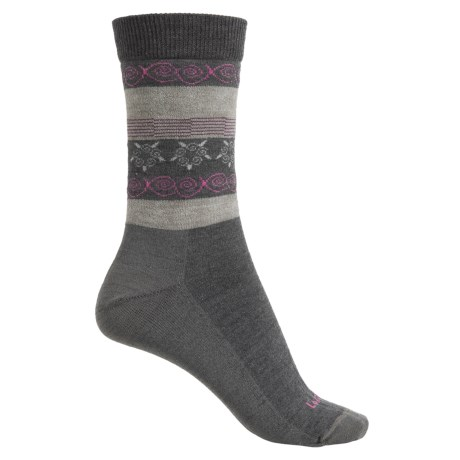 Lorpen Outdoor Lifestyle Fair Isle Socks - Merino Wool Blend, Crew (For Women)