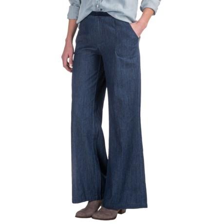 Wearables by XCVI Giorgina Denim Pants - Wide Leg (For Women)