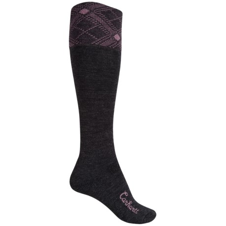 Carhartt Plaid Knee-High Cuff Socks - Over the Calf (For Women)