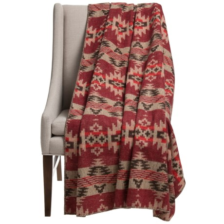 Woolrich Three Springs Dobby Wool Throw Blanket - 56x70""