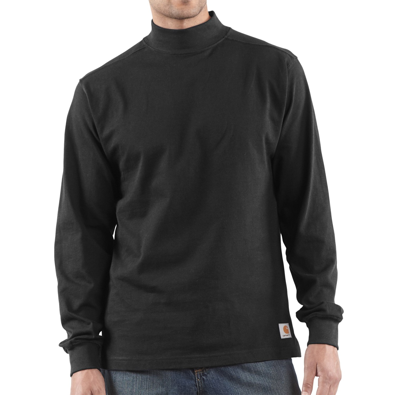 Carhartt heavyweight mock turtleneck for tall men 1903j for Big and tall mock turtleneck shirt