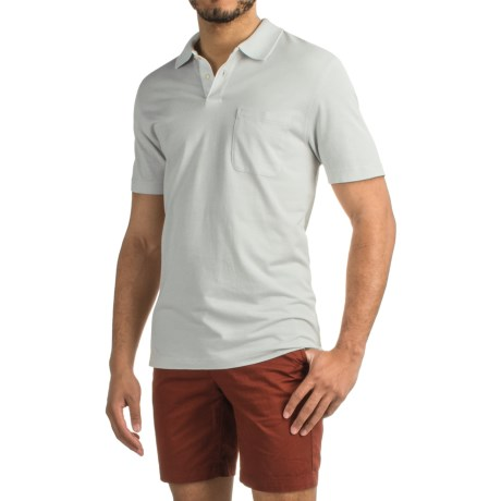 Specially made Pinstripe Polo Shirt - Short Sleeve (For Men)