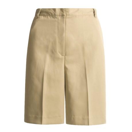 David Brooks Microfiber Shorts (For Women)