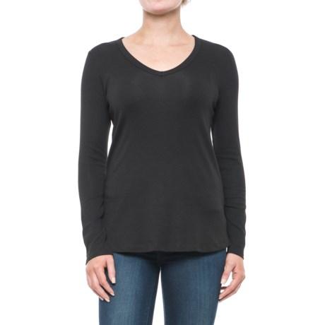 Cynthia Rowley V-Neck Shirt - Pima Cotton-Modal, Long Sleeve (For Women)