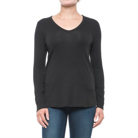 Cynthia Rowley V-Neck Shirt - Pima Cotton-Modal, Long Sleeve (For Women)