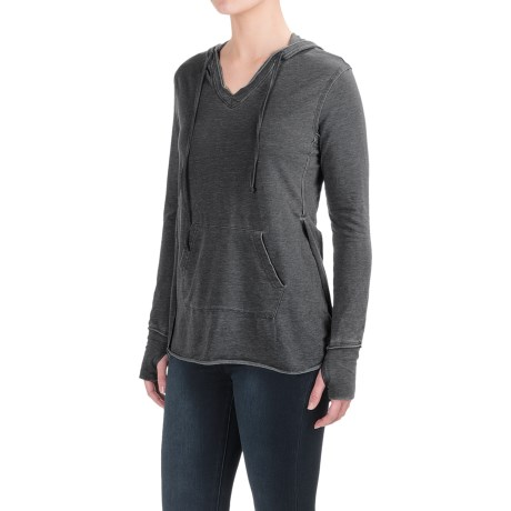 Workshop Republic Clothing French Terry Hoodie Shirt - Long Sleeve (For Women)