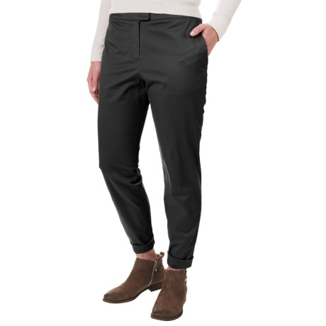 Pendleton Solid Woven Pants - Flat Front (For Women)