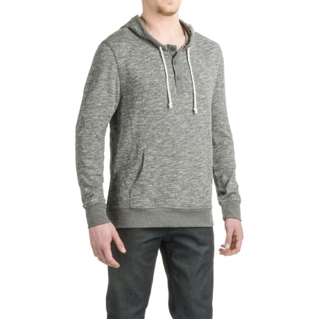 Threads 4 Thought Marled Terry Henley Hoodie (For Men)