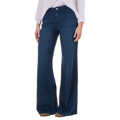 Specially made Wide-Leg Denim Pants - Cotton-Modal (For Women)