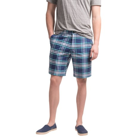 Chase Edward Plaid Cotton Shorts (For Men)