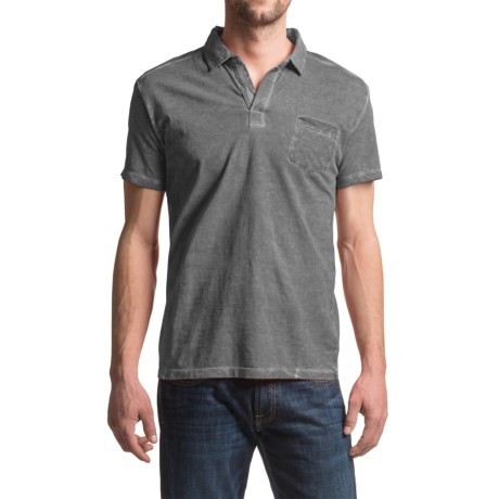 JKL Pigment-Dyed Polo Shirt - Short Sleeve (For Men)