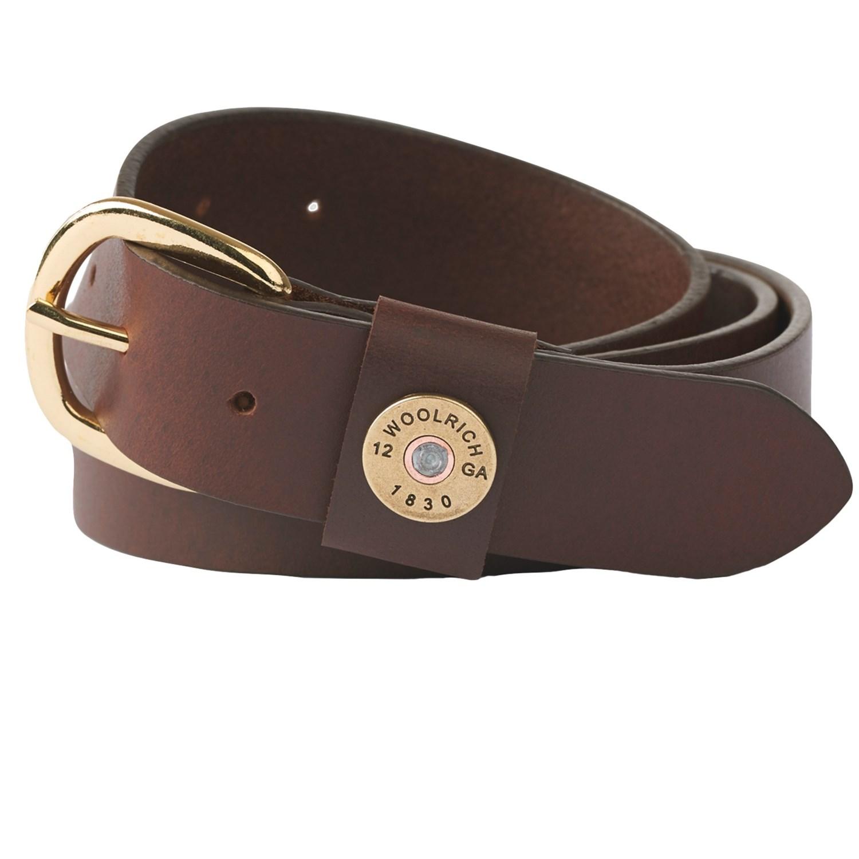 Woolrich Milestone Leather Belt For Men 191xc