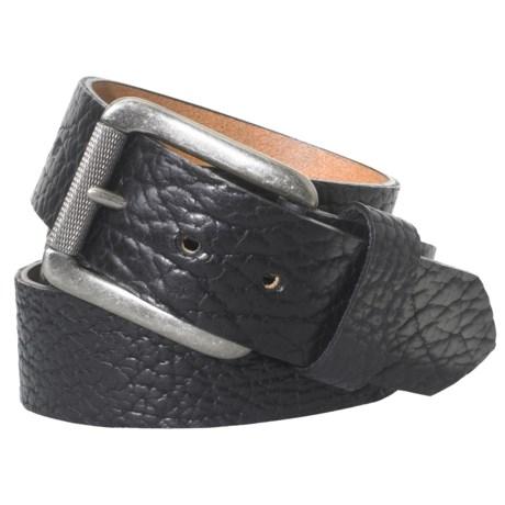 Woolrich Rancher Bison Leather Belt (For Men)
