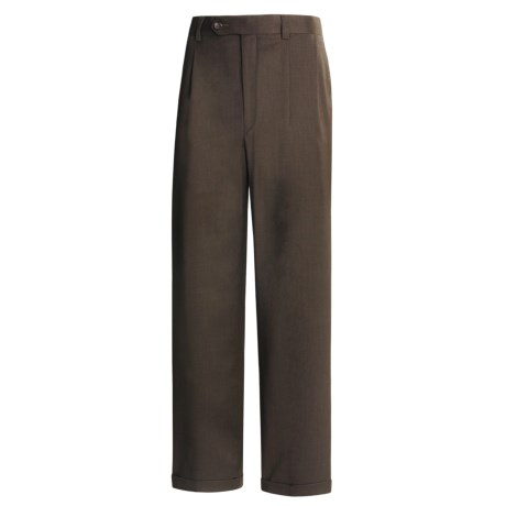 Rendezvous by Ballin Wool Gabardine Pants - Pleated (For Men)