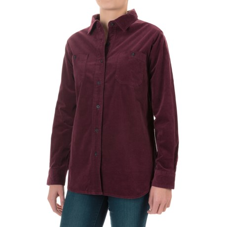 Woolrich Stretch Cotton Corduroy Shirt - Long Sleeve (For Women)