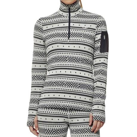 Icebreaker Vertex Icon BodyFit Base Layer Top - Merino Wool, Zip Neck (For Women)