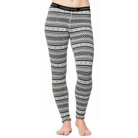 Icebreaker Vertex Icon BodyFit Base Layer Pants - Merino Wool (For Women)