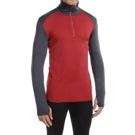 Icebreaker Tech Top BodyFit Base Layer Top - Merino Wool, Zip Neck (For Men)