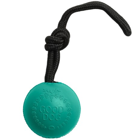 Harry Barker Rubber Good Dog Ball with Rope
