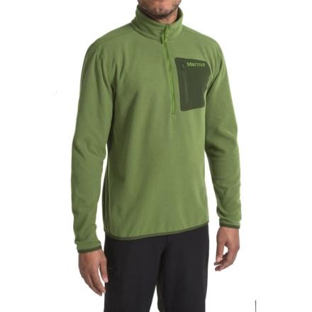 Marmot Rangeley Fleece Shirt - Zip Neck, Long Sleeve (For Men) in Alpine Green - Closeouts